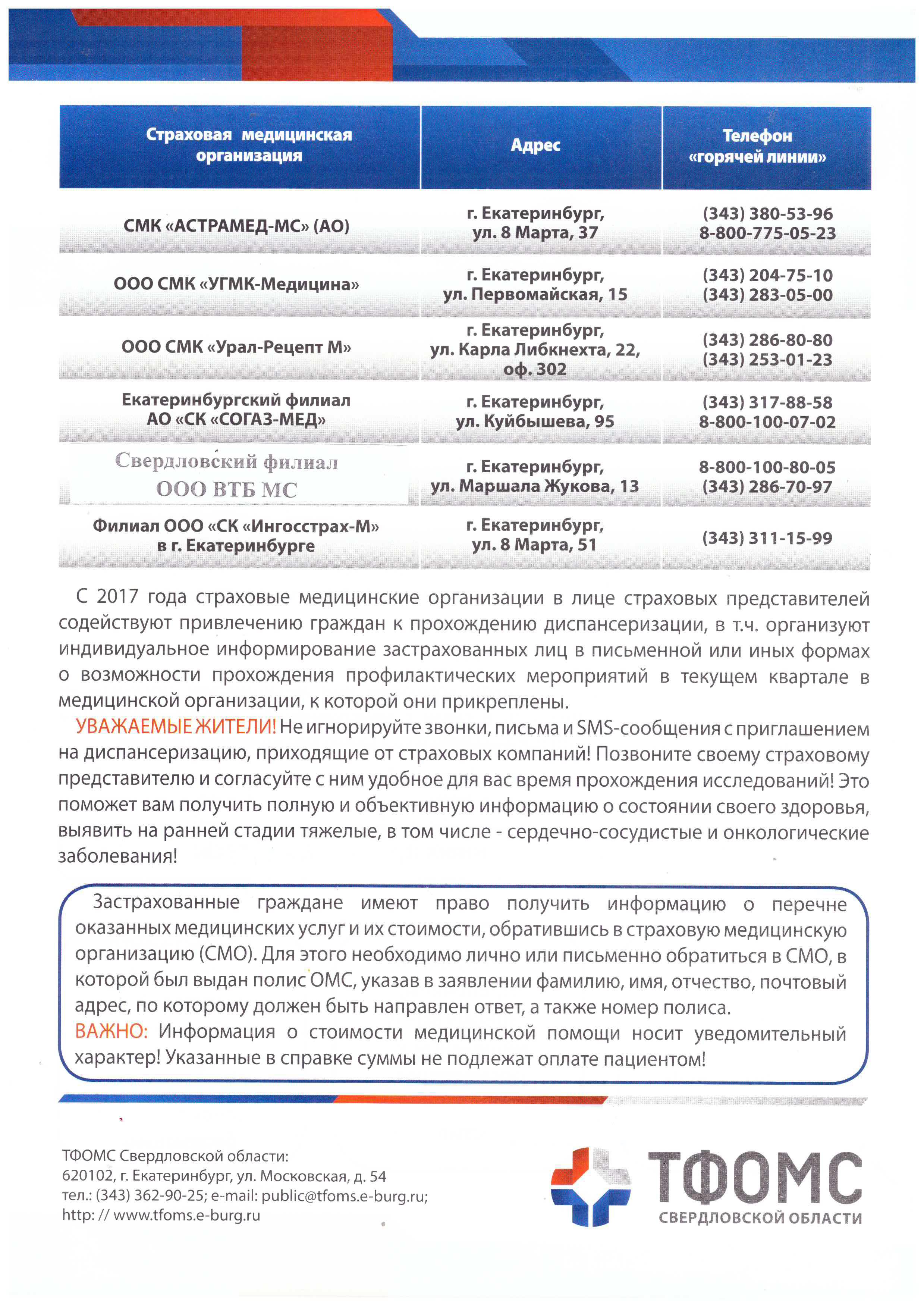 сайт фонда обязательного медицинского страхования екатеринбург
